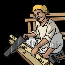 graphic freeuse stock Learn profession vocabulary in. Carpenter clipart female carpenter.