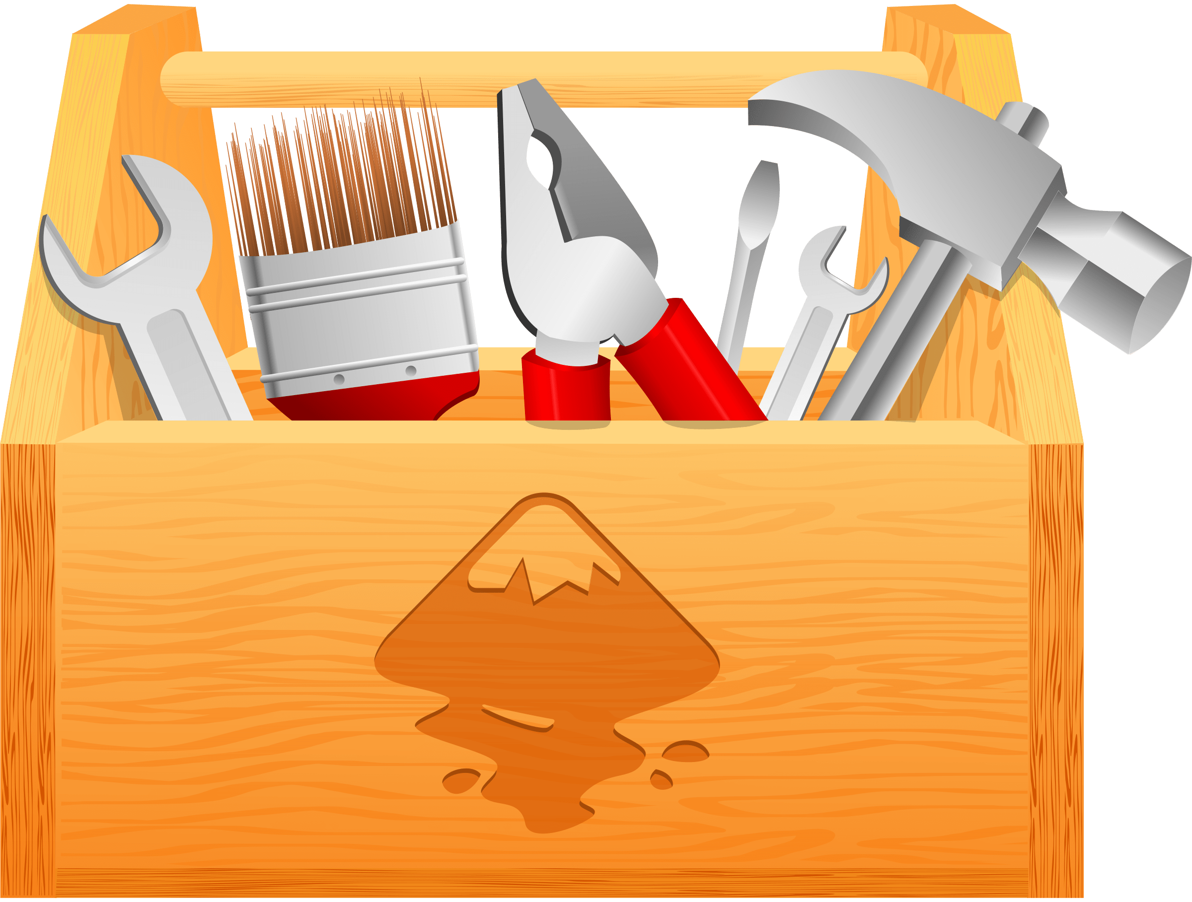 graphic freeuse library Carpenter Tool Box Clip Art