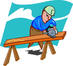 png free Sawing Carpenter Clip Art at Clker