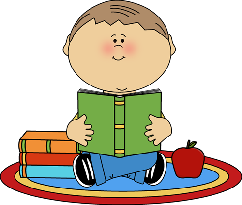 vector free download Boy reading clip art. Nursery clipart kid book