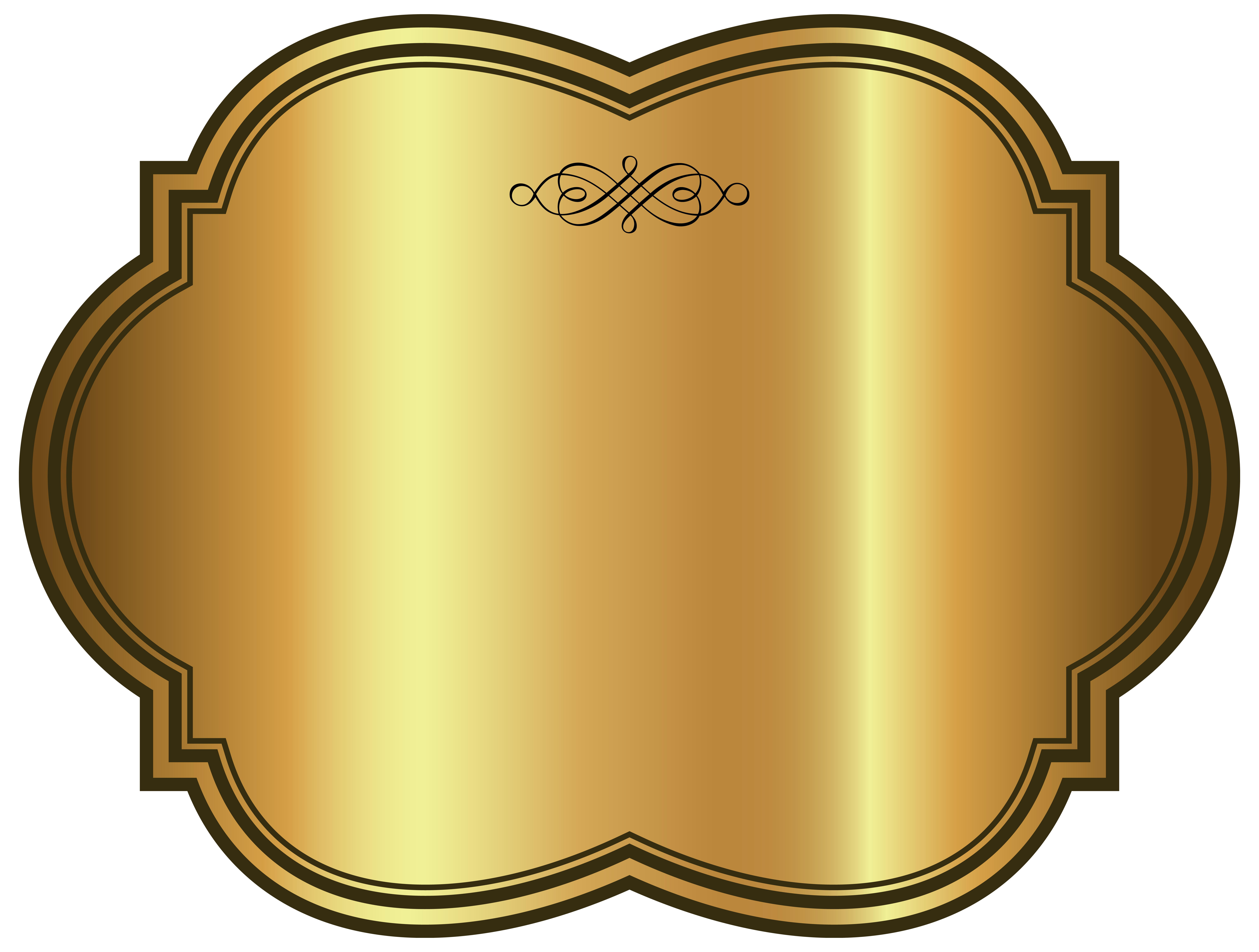 svg free Carpet clipart oval rug. Golden luxury label template.