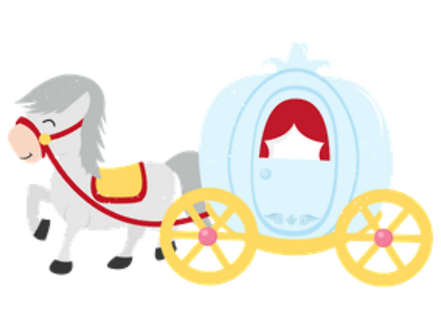 jpg library library Minus say hello fairytale. Carriage clipart cinderella baby.