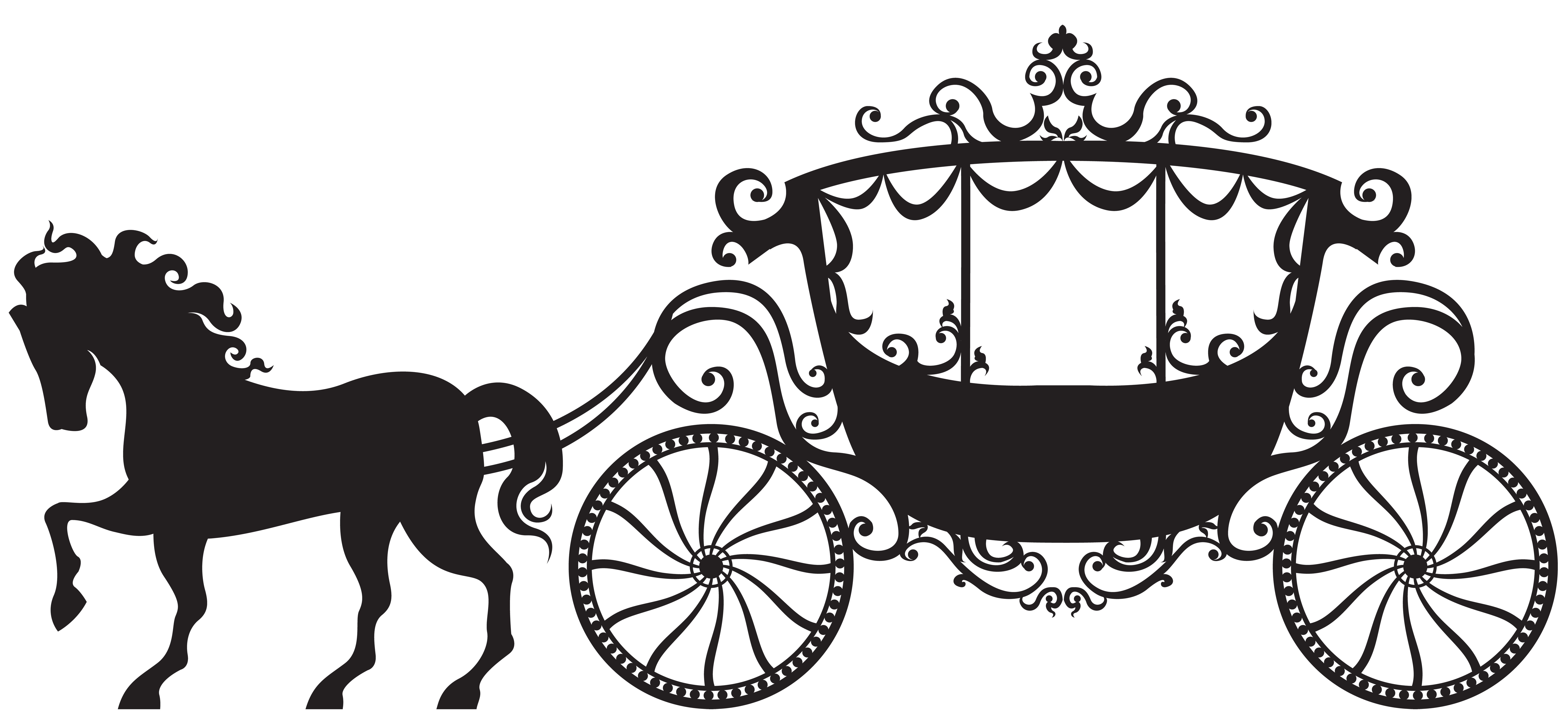 clip library download Carriage clipart frame. Silhouette png clip art.