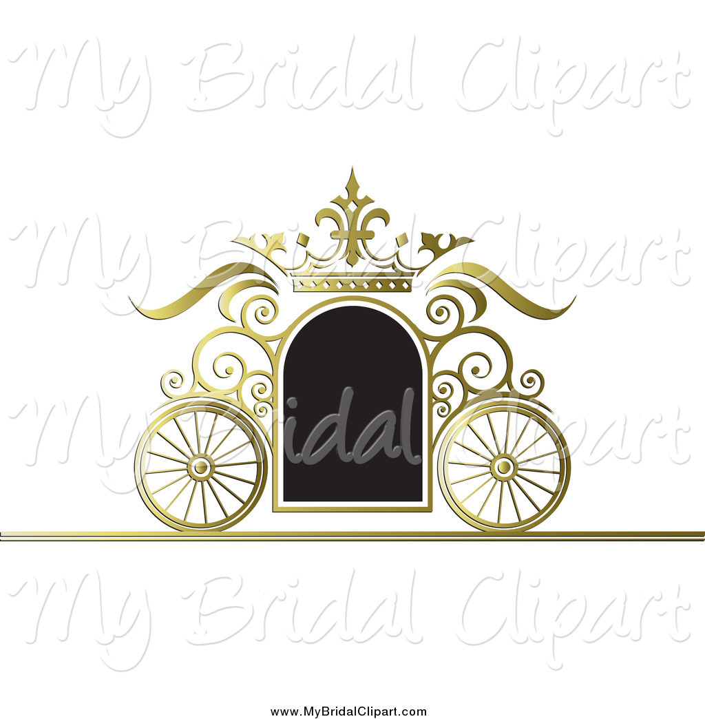 vector black and white Carriage clipart frame. Transparent free for .