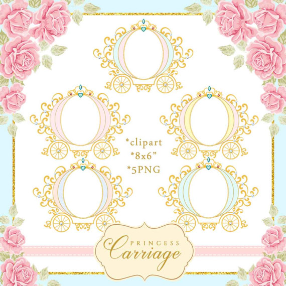 jpg transparent Princess vintage . Carriage clipart frame.
