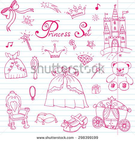clipart transparent Carriage clipart hand mirror. Drawn vector illustration set.