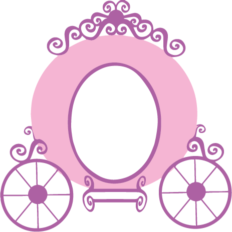 clip transparent download Princess decal rock painting. Carriage clipart hand mirror.