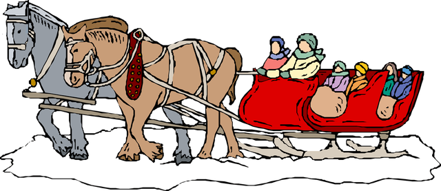clip art royalty free library sleigh drawing clip art #115696197