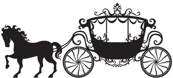 graphic royalty free library Carriage Silhouette PNG Clip Art Image