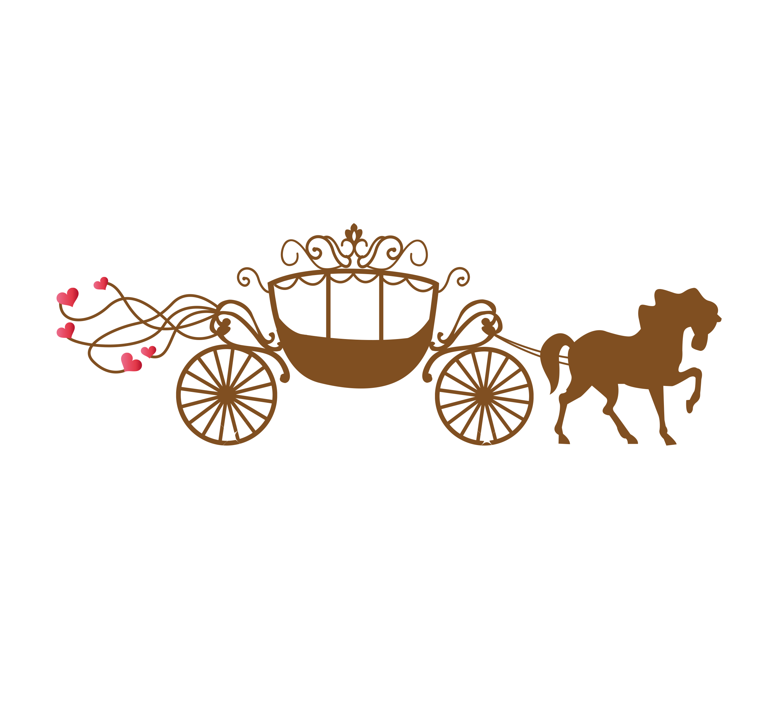 banner transparent download Invitation greeting card illustration. Carriage clipart wedding carriage.