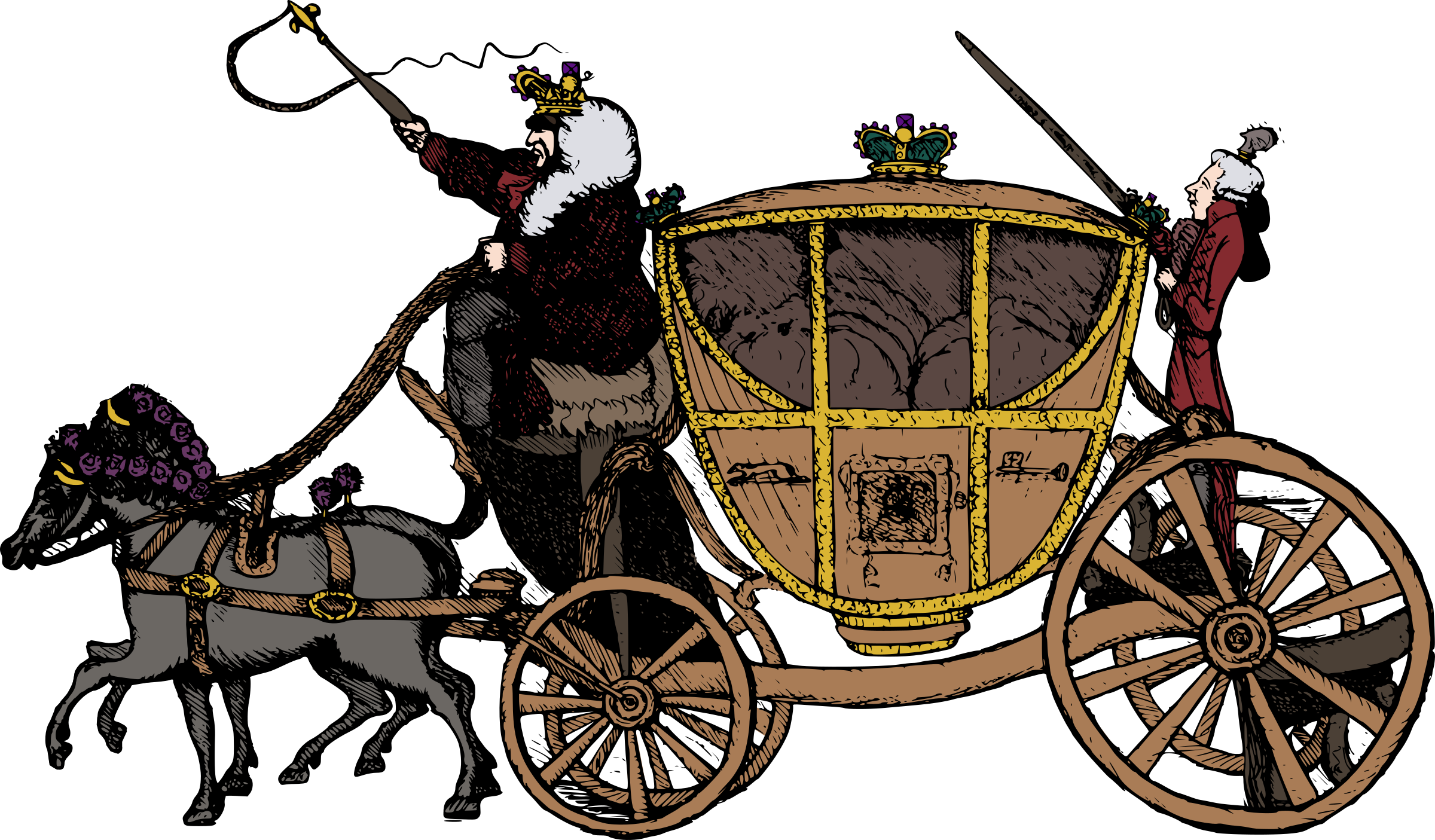 png library library Fairy tale big image. Carriage clipart.