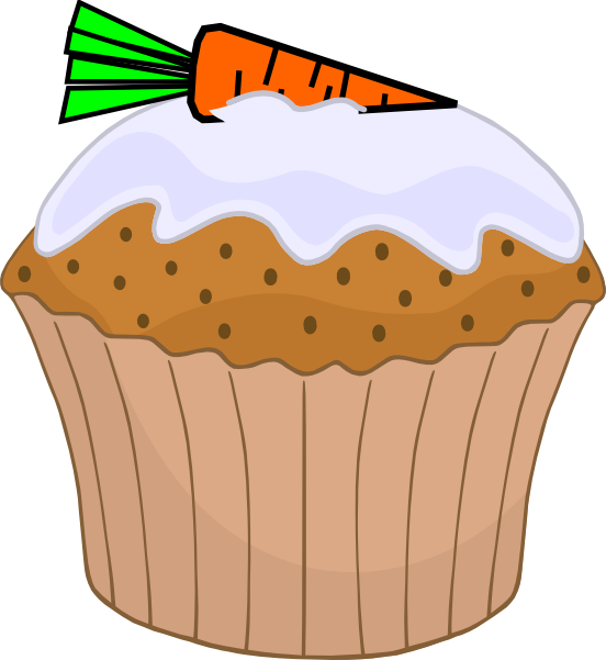 picture Carrot Cake Muffin Clip Art at Clker