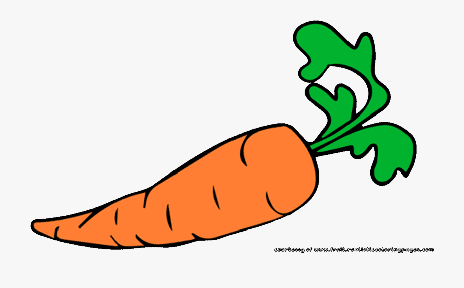 clipart black and white stock Fruit name free . Carrot clipart.