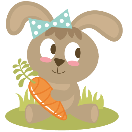 png royalty free library Easter Bunny Holding Carrot SVG files easter svg file bunny svg file