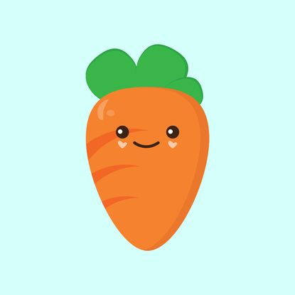 clip art royalty free download Cute art print q. Carrot clipart kawaii