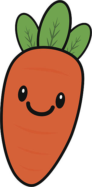 jpg free library Carrot clipart kawaii. Transparent free for