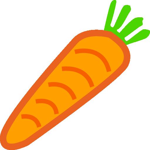 free Carrot Platformer Game Powerup Clipart