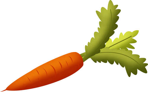 svg library Carrot with Green Leaves Clipart