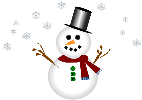 picture Snowman With Carrot Nose And Hat Clip Art at Clker