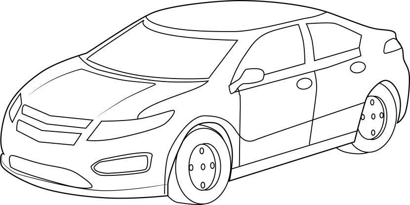 clip art transparent download  top view of. Cars clipart black and white