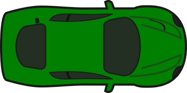 image freeuse stock Red car top view. Cars clipart plan.