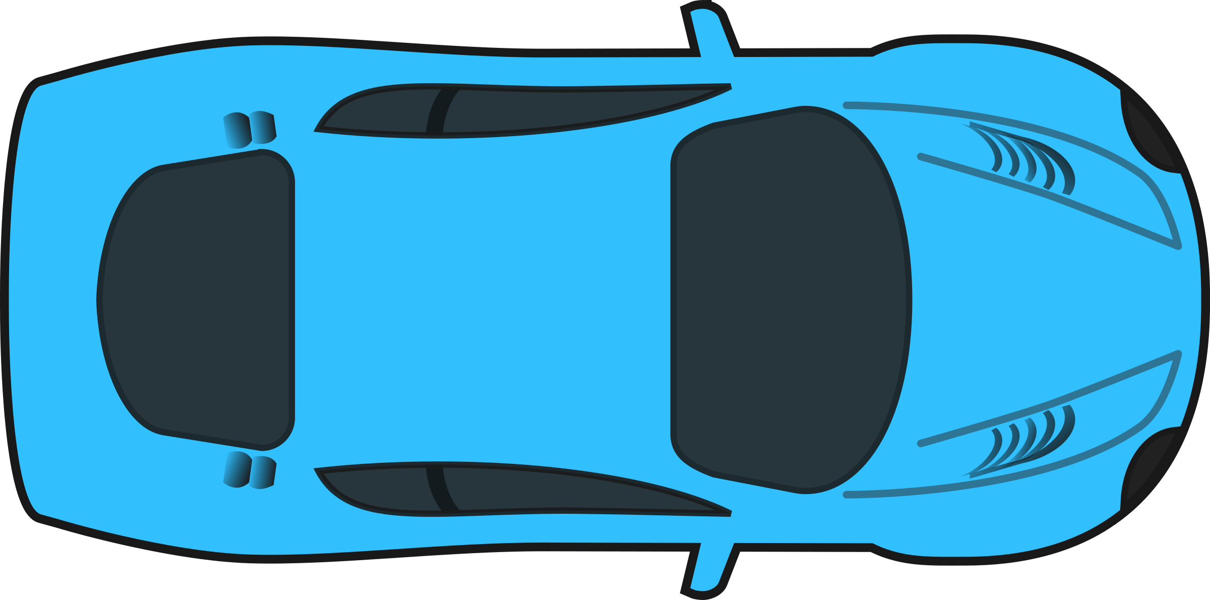 banner royalty free library Cars clipart plan. Blue racing car top.