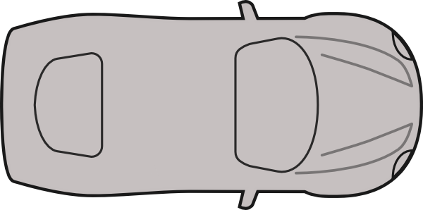 free stock Greycar top view clip. Cars clipart plan.