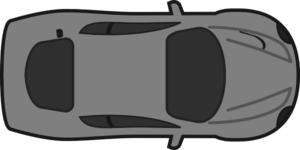 image free library Cars clipart plan. Red car top view.