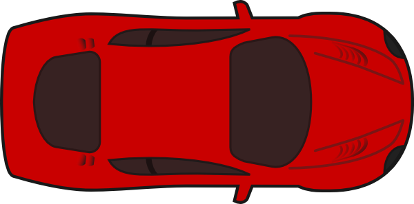 vector library Cars clipart plan. Red sports car top.