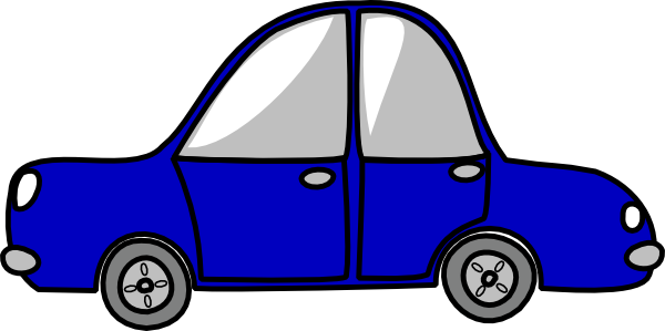 svg black and white download Cars clipart vector. Blue car very small.