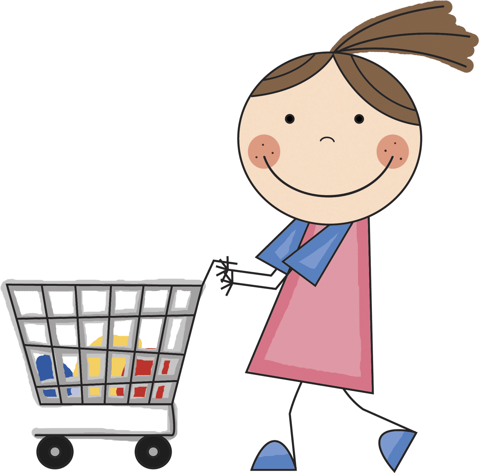 banner library download Cart clipart child.  collection of shopping.