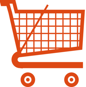 clip art free library Grocery clipart shopping trolley. Orange cart clip art