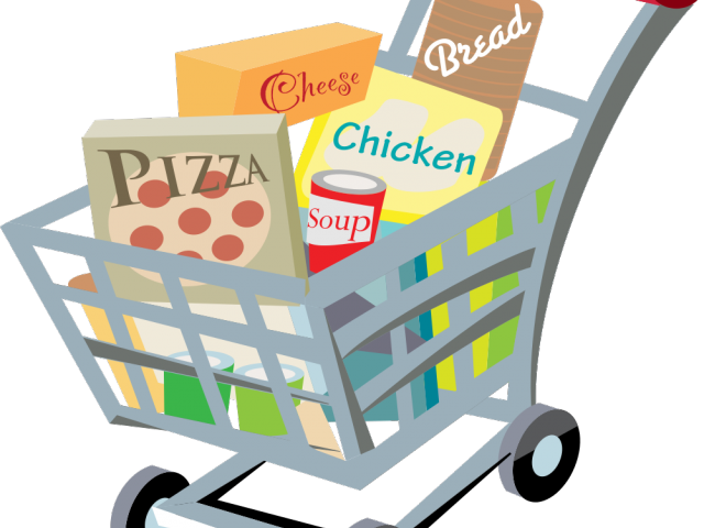 clip art free stock Supermarket clipart people. Trolley neighborhood free on