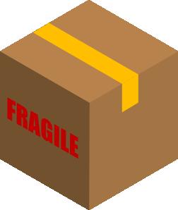 banner freeuse download Fragile box clip art. Carton clipart