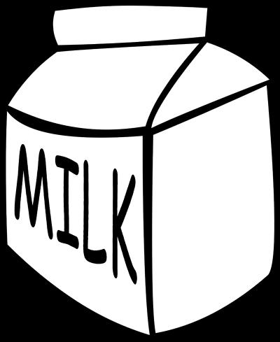 clipart black and white Milk . Carton clipart