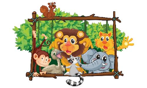 clip art royalty free library Cartoon animal clipart. Circus animals s homepage