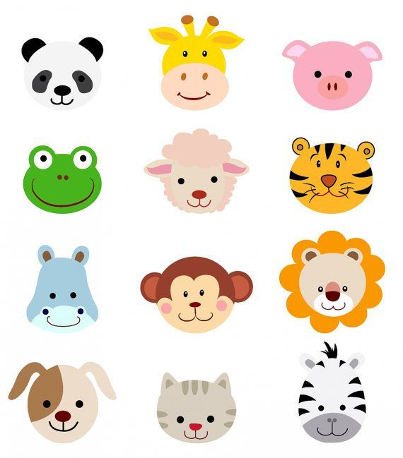 image free download Cartoon animal clipart. Faces dog face clip
