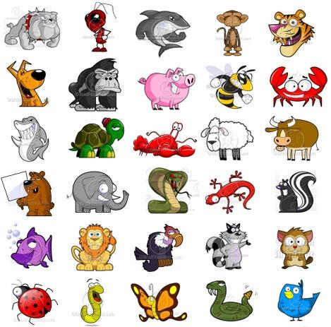 banner library download Animals clip art pack. Cartoon animal clipart