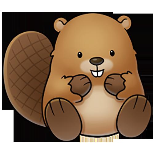 clip art royalty free download Beaver drawing cartoon clip. Cute brown bear clipart