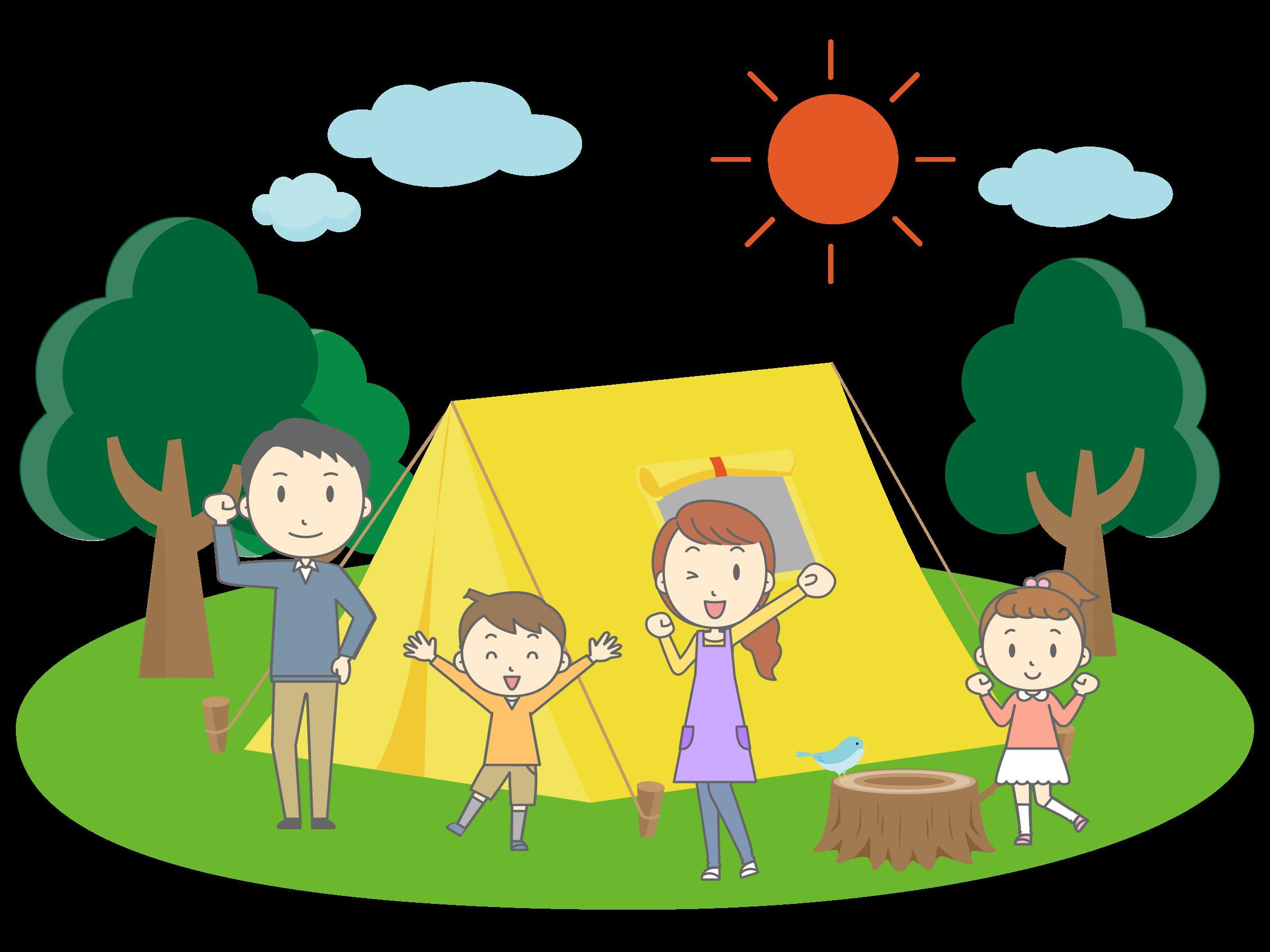 vector free download Cartoon clipart camping. Family big image png.