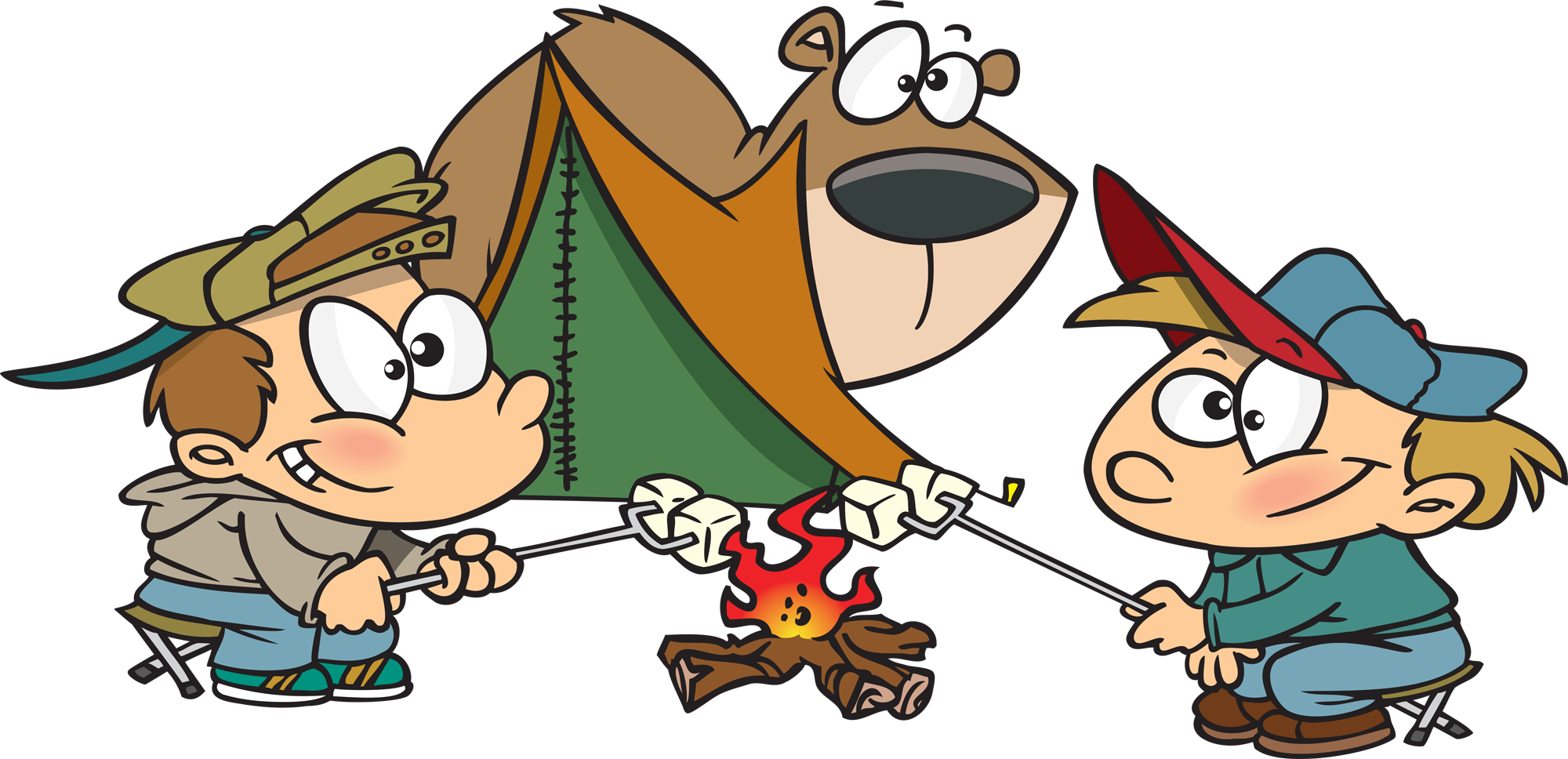 clip art royalty free library Free cartoons download clip. Cartoon clipart camping.