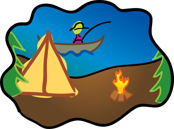 banner royalty free library Cartoon Camping Clipart