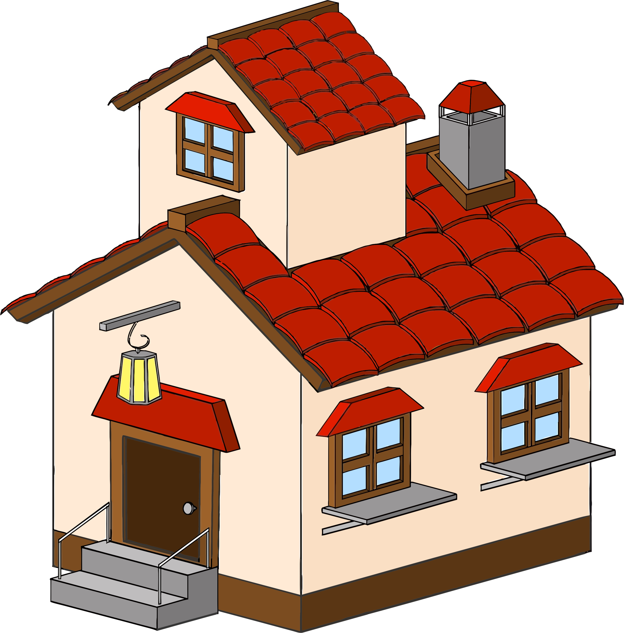 jpg freeuse Mansion clipart village house. Cartoon haunted picture free.