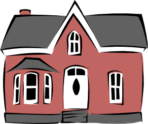 vector free Mansion clipart small cartoon. Colonial house clip art.