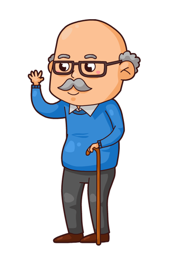 png library Cartoon Grandpa Clipart
