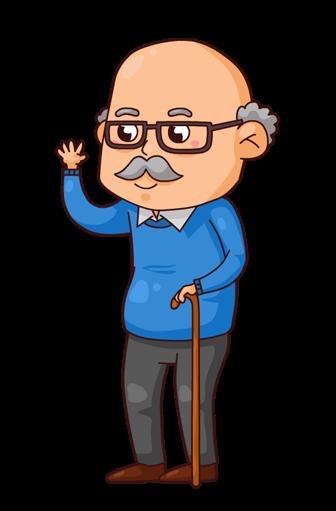 png library Cartoon Grandpa Clipart