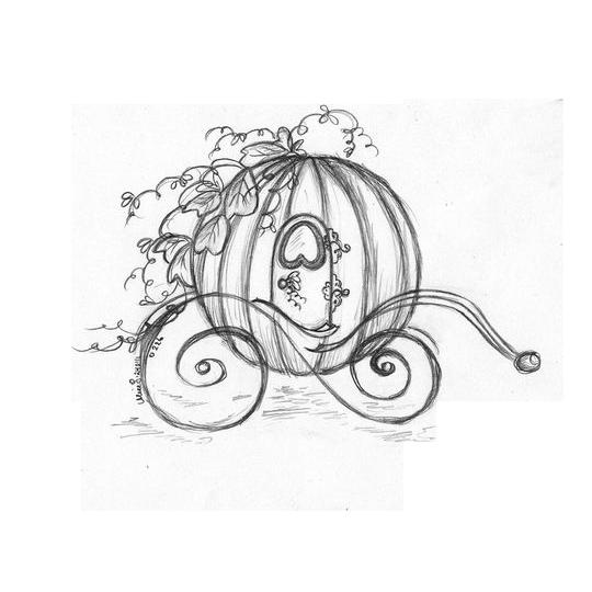 graphic transparent stock Carriage pumpkin sketch cartoon. Drawing princess cinderella
