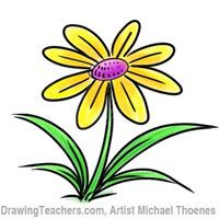 clip art freeuse library Cartoons drawing flower. Cartoon tutorial cool crafts