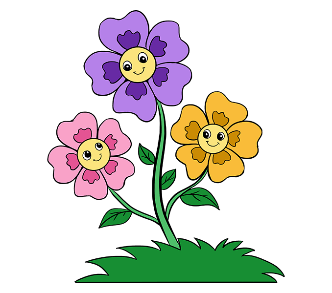 svg transparent library Cartoons drawing flower. Cartoon at getdrawings com