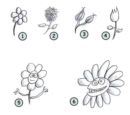 clipart free download How to draw cartoon. Cartoons drawing flower